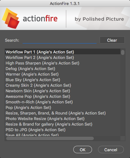 ActionFire Dialog