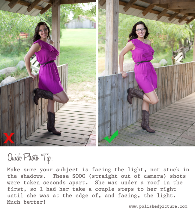 Quick Photo Tip - Have Subject Face the Light