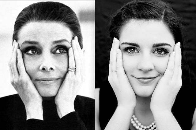 Audrey Hepburn Side by Side